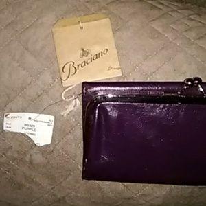 ☃️Gorgeous Deep Dark Purple Braciano Clutch